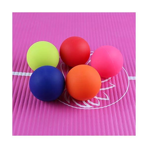 Massageblle Set Faszien Ball Fr Ruecken Glutaeus Muskulatur Und Kleine Schwer Erreichbare Triggerpunkte Faszien Massageball Fr Selbst Massage Und Faszien Training