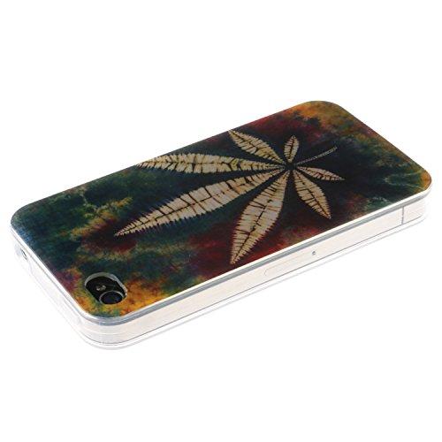iPhone 4s Coque, MOONCASE iPhone 4s Cover Case Fit Soft Silicone Housse avec Coque de Protection en TPU Etui pour iPhone 4s - DD14 Série Colore - DD10