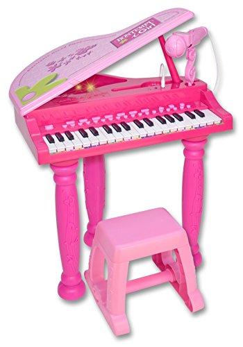Bontempi 10 3071 - igirl pianoforte a coda 37 tasti con sgabello