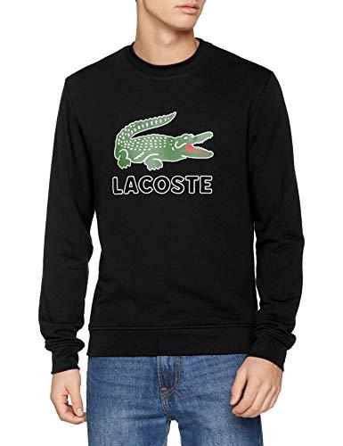 Lacoste Herren Sh6382 Sweatshirt, Schwarz (Noir 031), Large (Herstellergröße: 5)