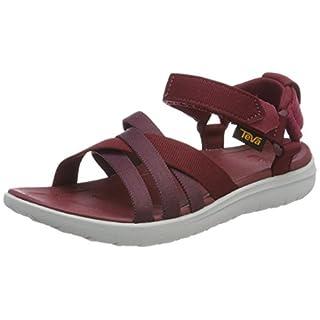 Teva Women's Sanborn Sandal, Sports and Outdoor Lifestyle Sandal, Red (Rhubarb), 7 UK (40 EU)
