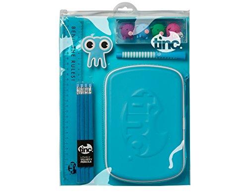 Tinc Schule Stationery Bundle/Geschenk Pack. Set enthält Hartschalenmäppchen, biegsam 30cm...