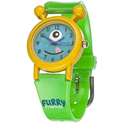Furry Friends Yellow Zany Watch - Kids Boys Girls Fun Watches Animal