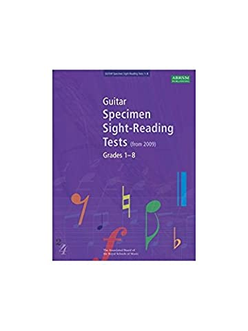 ABRSM Guitar Specimen Sight Reading Tests: From 2009 (Grades 1-8). Für Gitarre