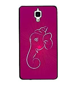 printtech Lord Ganesha Glow Aura Back Case Cover for Xiaomi Redmi Mi4 , Xiaomi Mi 4