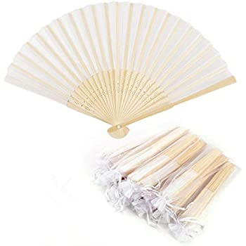 DIY and Decorative Fun for Young and Old Gifts for Guests Wedding Party Flamenco Belly-Dance Folding White Paper WeddingTree ® 60 x Pocket Fans