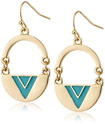 kensie-half-moon-geo-turquoise-epoxy-earrings