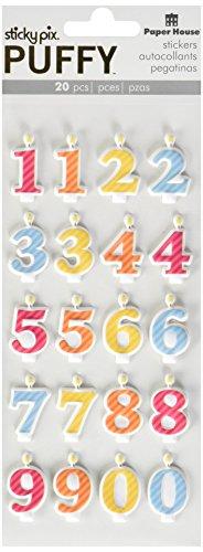 Paper House Productions Aufkleber Puffy Nummerierte Kerzen (Monatlich Kalender-buch)