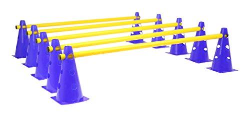 Das HAEST Steckhürdenset für Koordinationstraining - Blau-Gelb