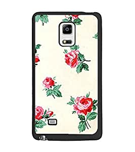 PrintDhaba Floral Pattern D-2342 Back Case Cover for SAMSUNG GALAXY NOTE 4 (Multi-Coloured)