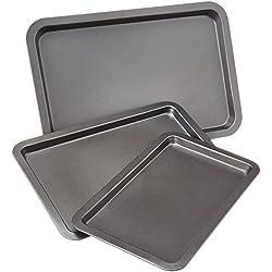 AmazonBasics Baking Tray Set, 3-Pieces