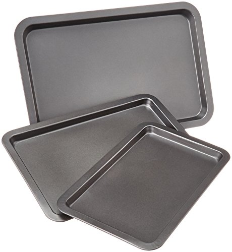 AmazonBasics Baking Tray Set, 3-Pieces