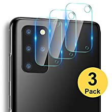 RHESHINE [3 Pack] Camera Lens Protector for Samsung Galaxy S20 Plus, [Scratch-Resistant] [Fingerprint-Resistant] Flexible Glass Camera Protector for the Samsung Galaxy S20 Plus(2020)