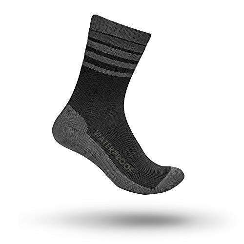 GripGrab Unisex-Adult Radsport wasserdichte Merino Thermal Socke Fahrrad, Black, L (42-44)