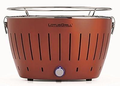 LotusGrill Kupferbraun -Neue Sonderfarbe! Limited-Edition! Weltweit nur 5555 Stk! Der rauchfreie Holzkohlegrill/Tischgrill. Garantiert die neueste Technik -Robuster,langlebiger Edelstahlkohlebehälter