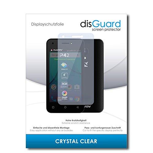 disGuard® Bildschirmschutzfolie [Crystal Clear] kompatibel mit Allview P42 [2 Stück] Kristallklar, Transparent, Unsichtbar, Extrem Kratzfest, Anti-Fingerabdruck - Panzerglas Folie, Schutzfolie