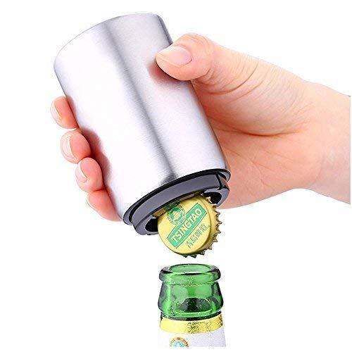 YENVINE Botella de Cerveza Abridor Automático de Acero Inoxidable, Cerveza de Consumición...