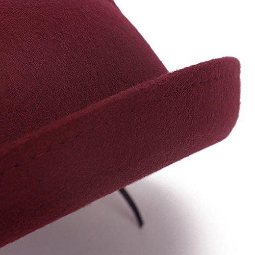 Surker femmes Vogue Fashion Cute Cat Ear Trendy Bowler Hat Derby bleu marin