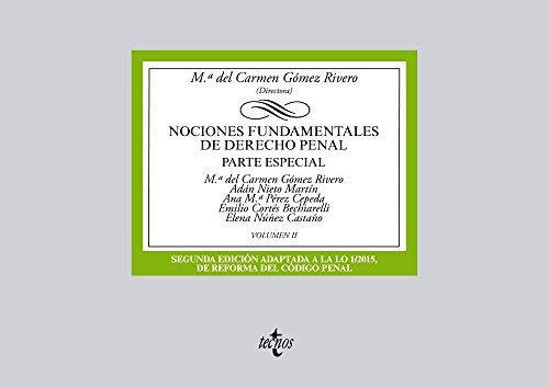 Portada del libro Nociones fundamentales de Derecho Penal: Volumen II. Parte especial (Derecho - Biblioteca Universitaria De Editorial Tecnos)