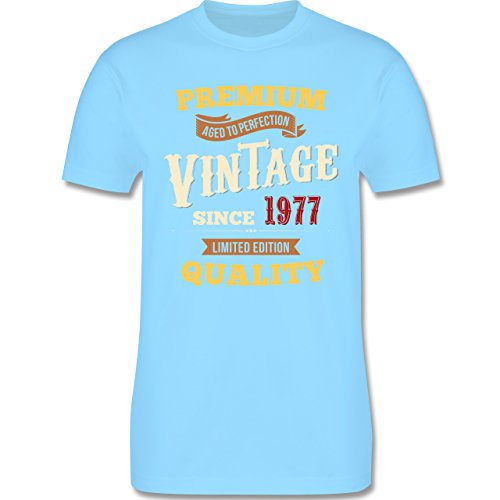 Geburtstag - 40. Geburtstag Vintage 1977 - Herren Premium T-Shirt Hellblau