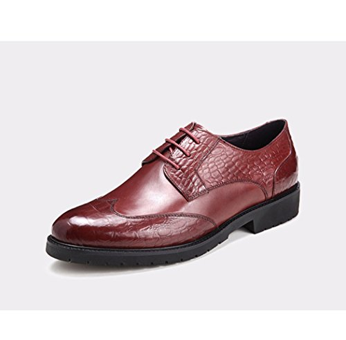 HHY-Business casual scarpe uomo scarpe in pelle Tracolla in pelle Claret