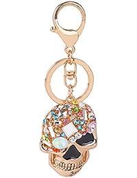 855fd4d976 Skgardeniamy, portachiavi a forma di teschio con strass, decorazione per  borsa da donna,