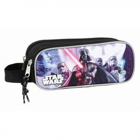 Star Wars Estuche portatodo Doble (SAFTA 811701513), Color Negro, 21 cm