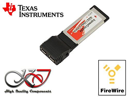 Kalea-Informatique-Scheda controller ExpressCard 34Firewire 400(IEEE1394a) con chipset Texas Instruments ti xio2200-2porte-Gamma professionale/Componenti alta qualità-Pilota preinstallati per Windows/Mac/Linux.