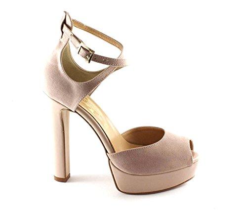 DIVINE FOLLIE 103 nude rosa scarpa donna tacco plateaux spuntata Rosa