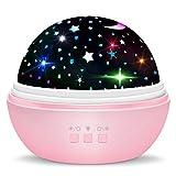 Dreamingbox Geburtstags Geschenke für Mädchen 1-10 Jahre, Sternenhimmel Projektor für Kinder Pädagogisches Spielzeug für Jungen Mädchen 1-10 Jahre Jungen Geschenke 1-10 Jahre Pink