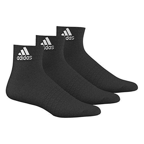 adidas Socken Knöchelsocken 3er-Pack, Schwarz/Weiß, 43-46, 017081487 (Socken Schwarz Adidas)