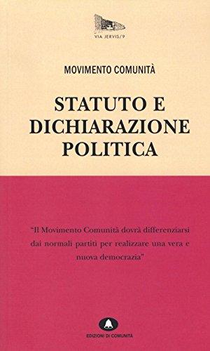 Statuto e dichiarazione politica (Via Jervis)