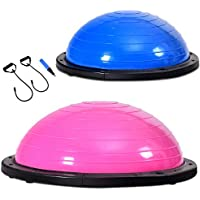 COSTWAY Balance Trainer Ball   Balancetrainer ø60cm   Gymnastikball mit Expander & Pumpe   Körperbalance bis 200kg