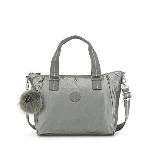 Kipling - Amiel, Bolsos maletín Mujer, Gris Metallic