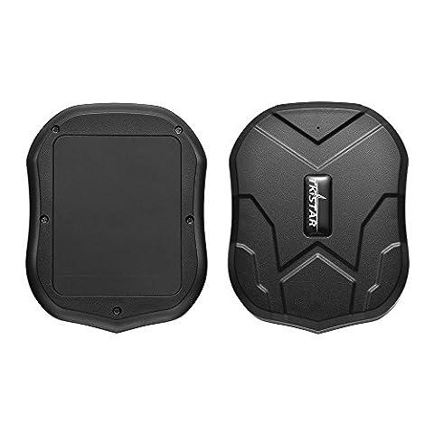 TKSTAR Mini Dispositif Traceur Etanche avec Puissant Aimant Longue Veille GPS Traceur Localisateur pour Personnes Âgées Enfants Animaux Voitures PS110