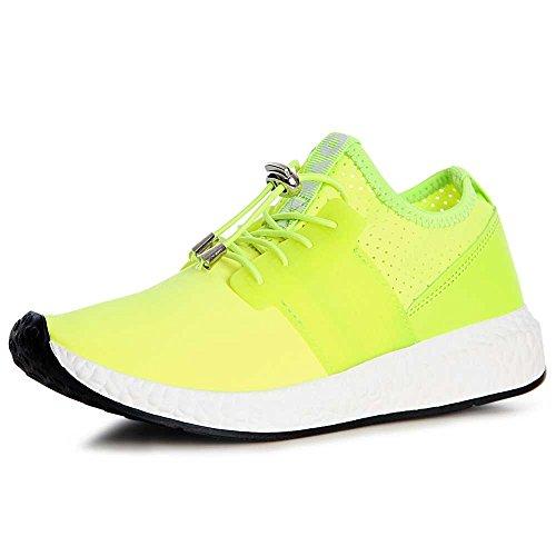 topschuhe24, Sneaker donna neon giallo