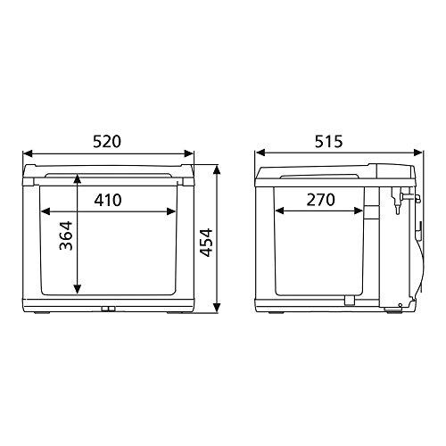 DOMETIC CK40D HYBRID Glacière-Conservateur portable, 38L, 12/230V, AC : +10°C à -15°C - DC 20°C en dessous de la température ambiante, p515xh454xl520, Norme FR, [Classe énergétique A+]