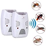 Zomoza Ultrasonic Repellent, Electronic Bug Repellent Reject Ant, Mosquito, Rat, Roach, Flea, Rodent