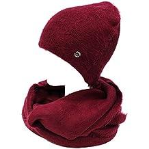 GIANMARCO VENTURI Set scaldacollo e cappello donna 100% acrilico 71794  bordeaux 6793dcc1b710