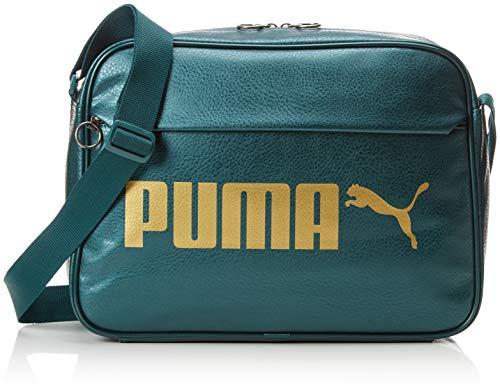 Puma Erwachsene Campus Reporter PU Sporttasche, Ponderosa Pine-Gold-Metallic, OSFA