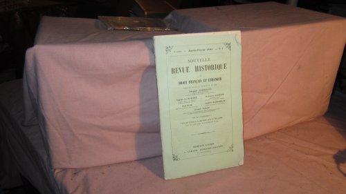 Nouvelle revue historique de droit français et étranger 1855 dir. g. appert, paris...
