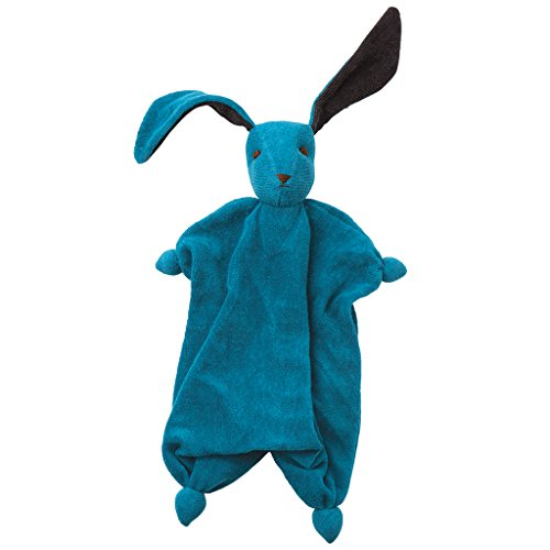 Tino Organic pp-ti 200–260muñeca conejo Doudou, algodón bio Blu/Antracite