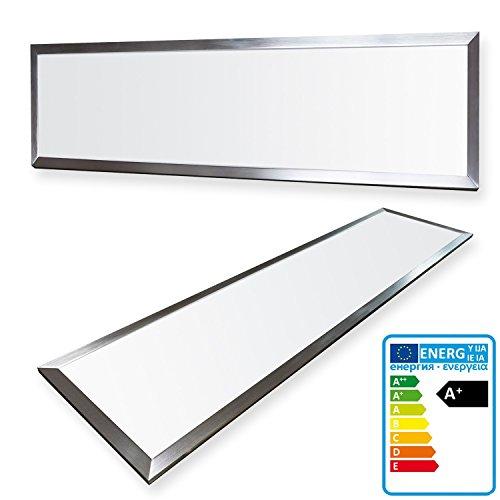 LEDVero 1er Set 120x30cm Ultraslim LED Panel 36W, 3000lm, 4500K Deckenleuchte mit Befestigungsclips und EMV2016 Trafo -Neutralweiß- Energieklasse A+ -