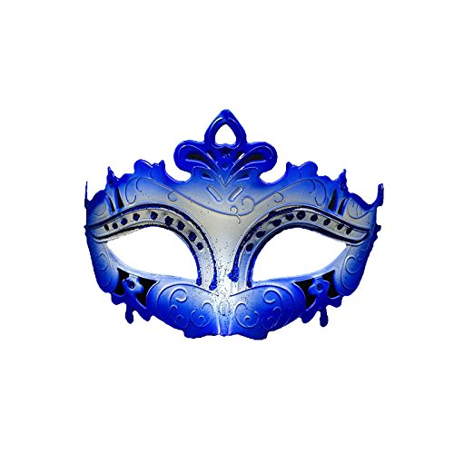 Venezianische Venetianische Blau weiß Bunte Glitzer Maske Maskerade Masken Ball Karneval Kostüm Fasching Verkleidung Shades of Grey Mr Grey Herren Damen Männer Frauen Funkelnd Mitternacht Schwarz