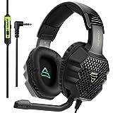 NSK Smart Gaming Headset LLP SUPSOO G811 3,5-mm-Stereo-Gaming-Headset Kabelgebundener Musikkopfhörer mit Kabel & Mikrofon & 3,5-mm-2-in-1-Audio-Line für PC, Laptop, Tablet, Telefone