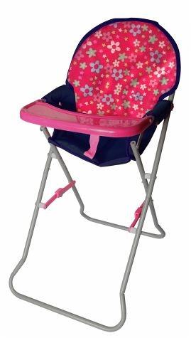 Amia Doll's High Chair Pink and Blue Flower 41eJIHs6VIL