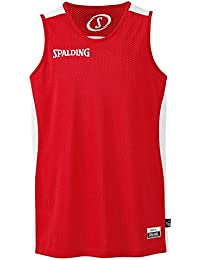 official photos ebfd2 f264d Spalding Essential Reversible Camiseta de Juego, Hombre, Rojo Blanco, XL