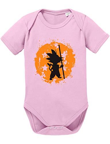 l Strampler Bio Baumwolle Baby Body Jungen & Mädchen 0-12 Monate, Größe:56/0-2 Monate, Farbe:Rosa ()