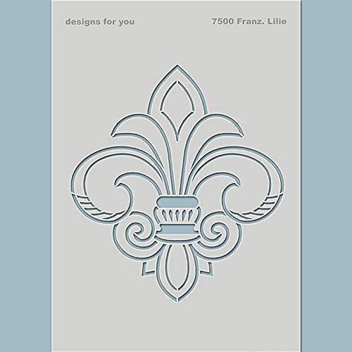 Französische Lilie | Schablone für Textildesign, Scrapbooking, Mixed Media. | Nr. 7500