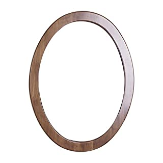 American Imaginations 21 24-Inchx 32-Inch Oval Wood Framed Mirror, Antique Cherry Finish by American Imaginations
